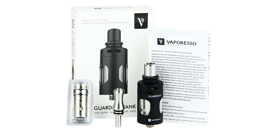 Vaporesso Guardian cCELL Tank - 2ml, Black & Blue