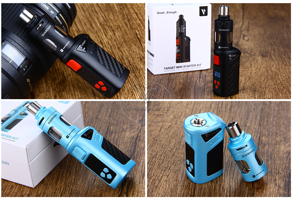 40W Vaporesso TARGET Mini TC Starter Kit - 1400mAh, Black & Blue