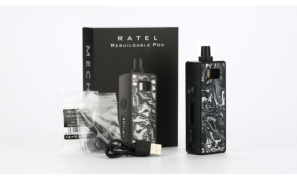 MECHLYFE Ratel 80W TC Rebuildable Pod Kit