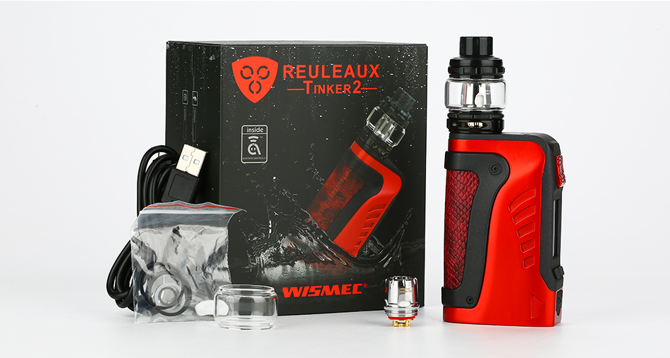 WISMEC Reuleaux Tinker2 200W TC Kit with Trough Tank 2ml/6.5ml