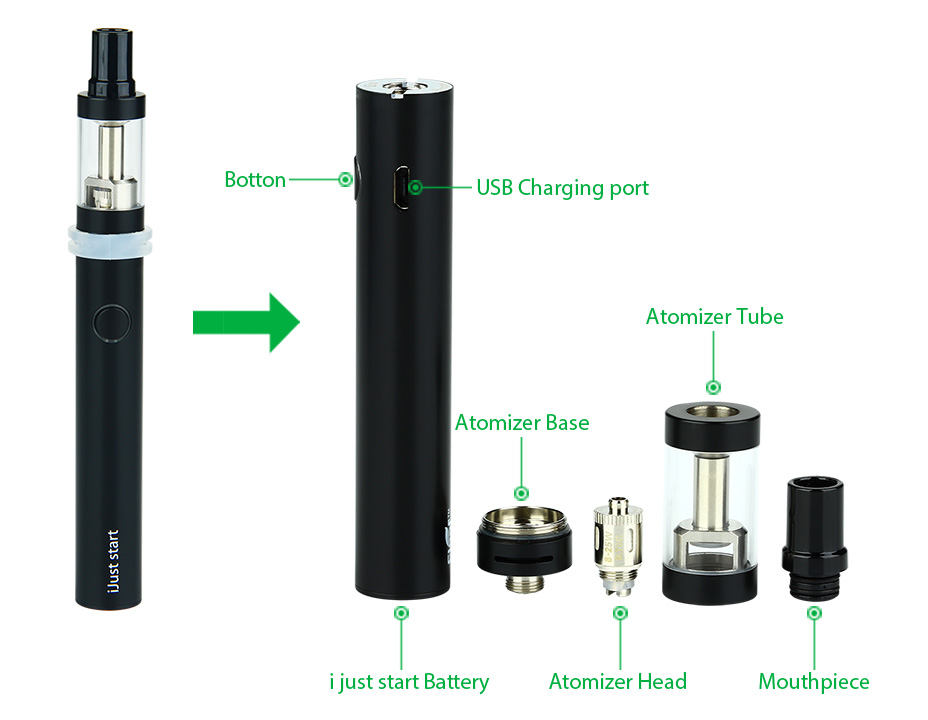 Eleaf iJust Start Kit dengan 2.3ml Atomizer - 1300mAh