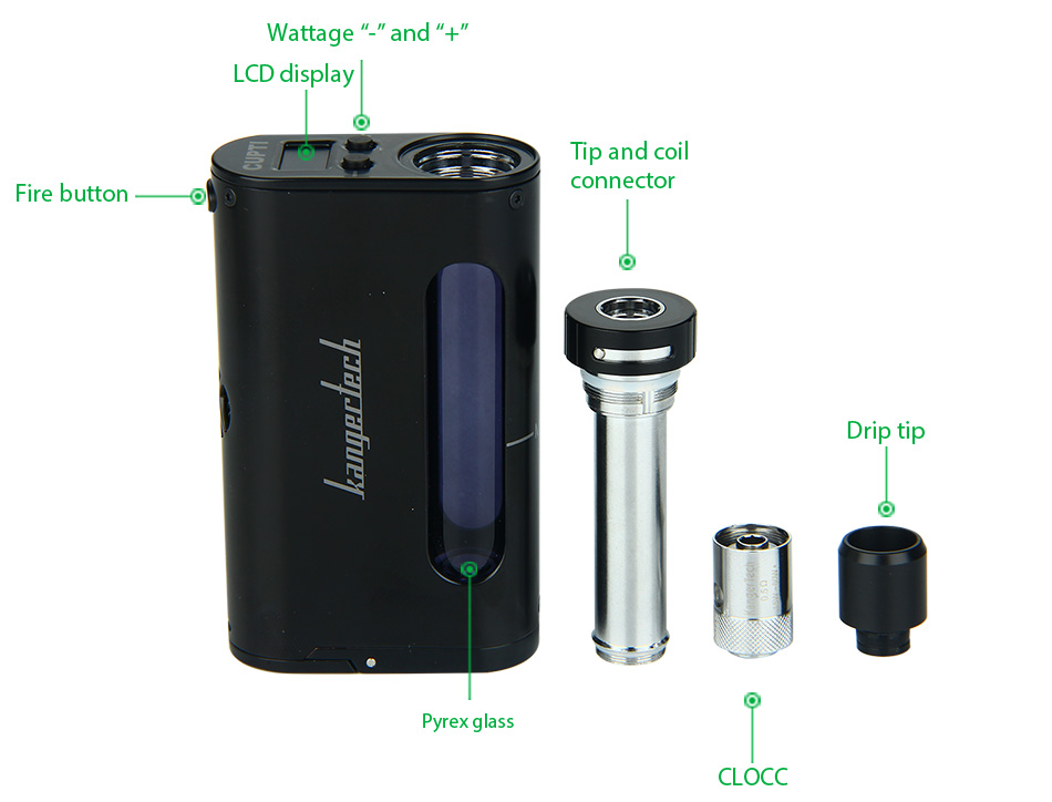 75W Kangertech CUPTI TC Starter Kit W/O Battery
