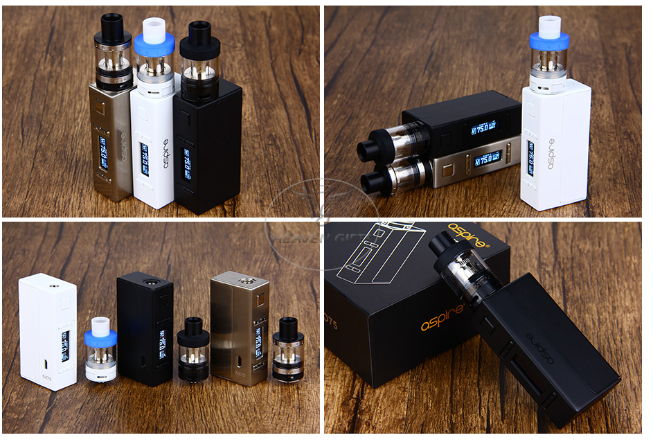 Aspire EVO75 Kit W / Atlantis EVO Tank и NX75 MOD W / O Battery