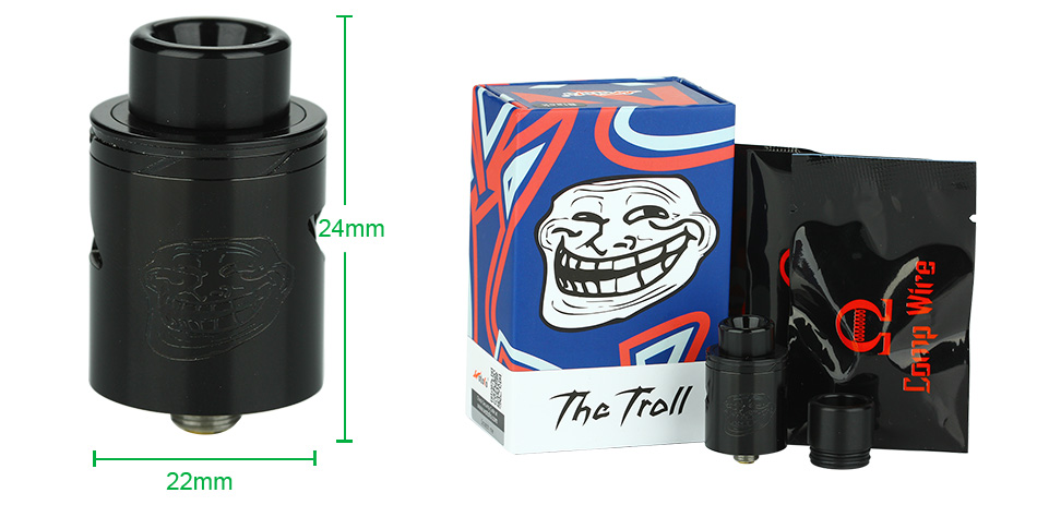 WOTOFO The Troll V2 RDA, Black