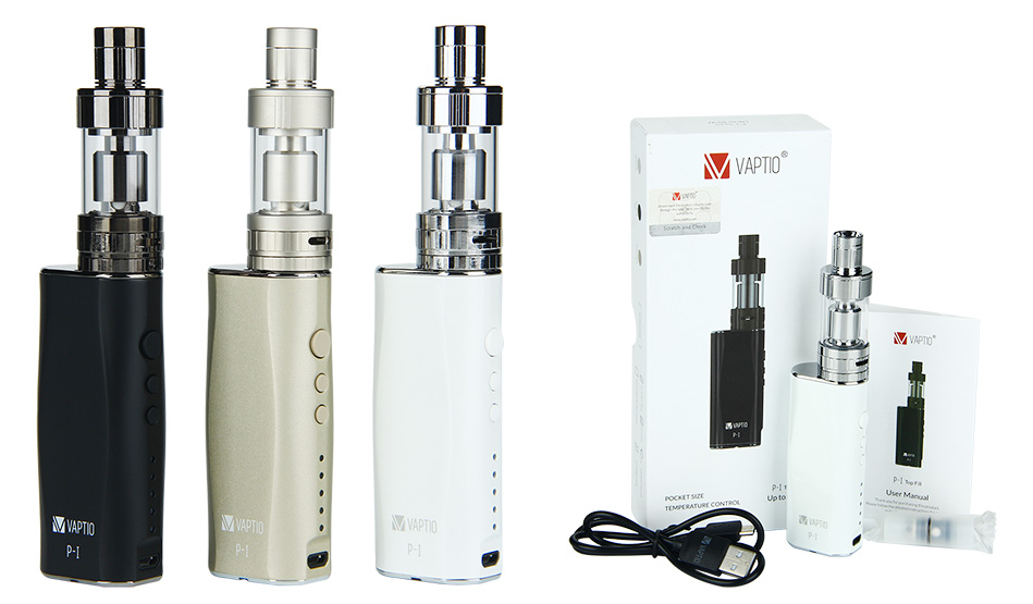 50W Vaptio P-I Full Kit with 3ml Atomizer - 2100mAh (No Wall Adapter)