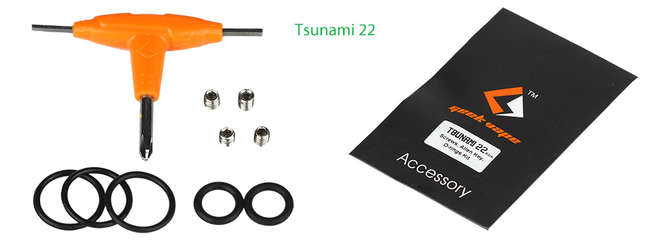 GeekVape Tsunami 22/24 Accessory Pack (Screw+O-ring+Allen Key)