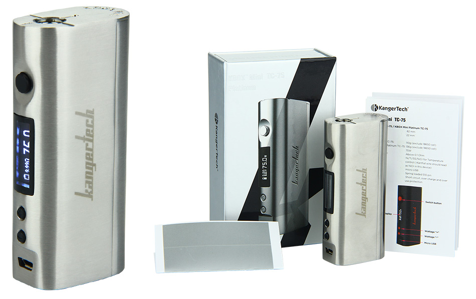 75W Kangertech KBOX Mini TC MOD W/O Battery - Stainless Steel