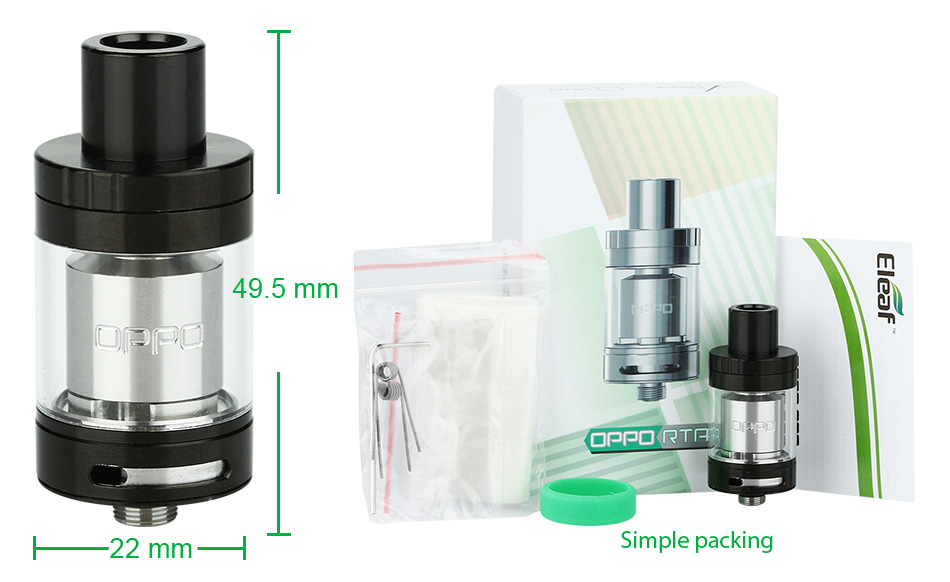 Eleaf OPPO RTA Atomizer - 2ml
