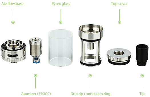 Kangertech TOPTANK Mini SSOCC Pyrex Glass Cartomizer