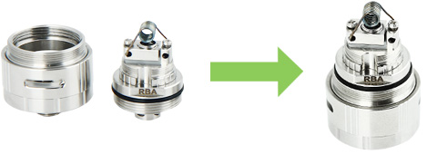 EHPRO Morph RTA Rebuildable Tank Kit with Three Adapters