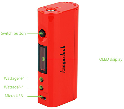 75W Kangertech KBOX Mini TC MOD W/O Battery
