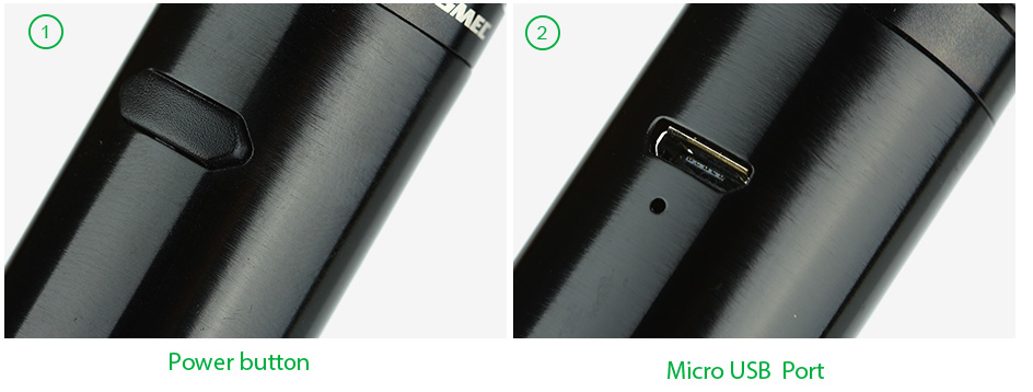 WISMEC Vicino Battery Tube W / O Baterai
