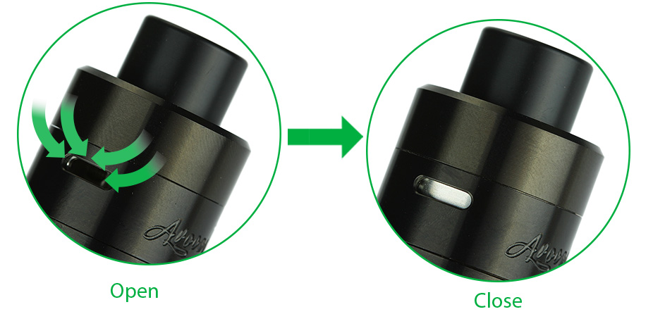 GeekVape Avocado 24 RDTA Tank - 5ml, Black