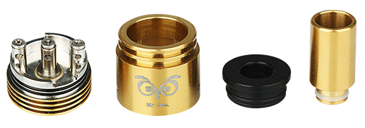 Ehpro Mr.Owl RDA Rebuildable Tank Kit - Black/Golden
