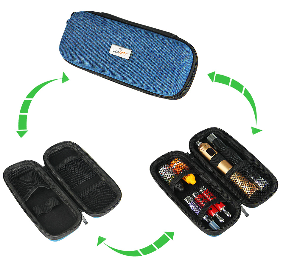 VapeOnly Medium Zipped Carrying Case for e-Cigarette - Jean Cloth