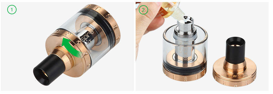 Aspire Nautilus X Cartomizer - 2ml, Black & Gold