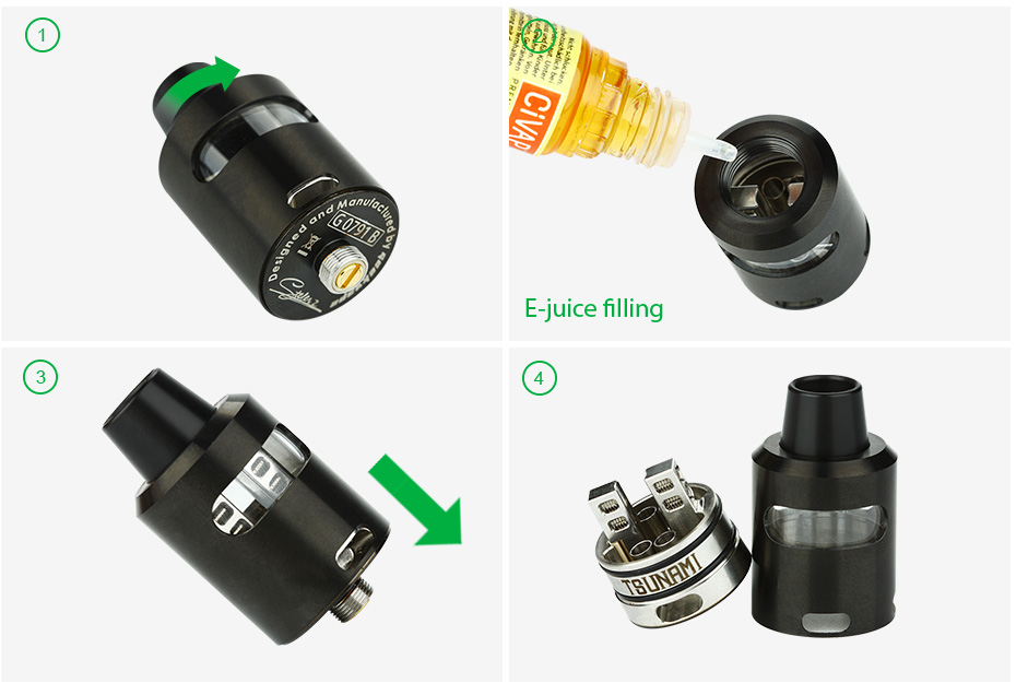 GeekVape Tsunami 24 RDA Glass Window Version - Black