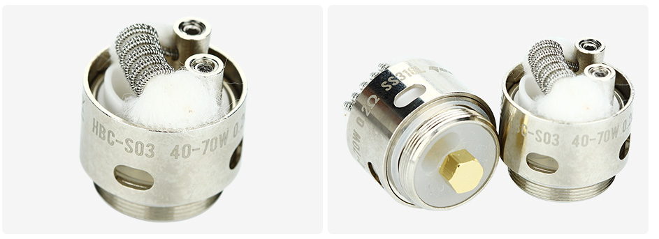 2pcs GeekVape Eagle Replacement HBC-S03 Staggered Fused Clapton