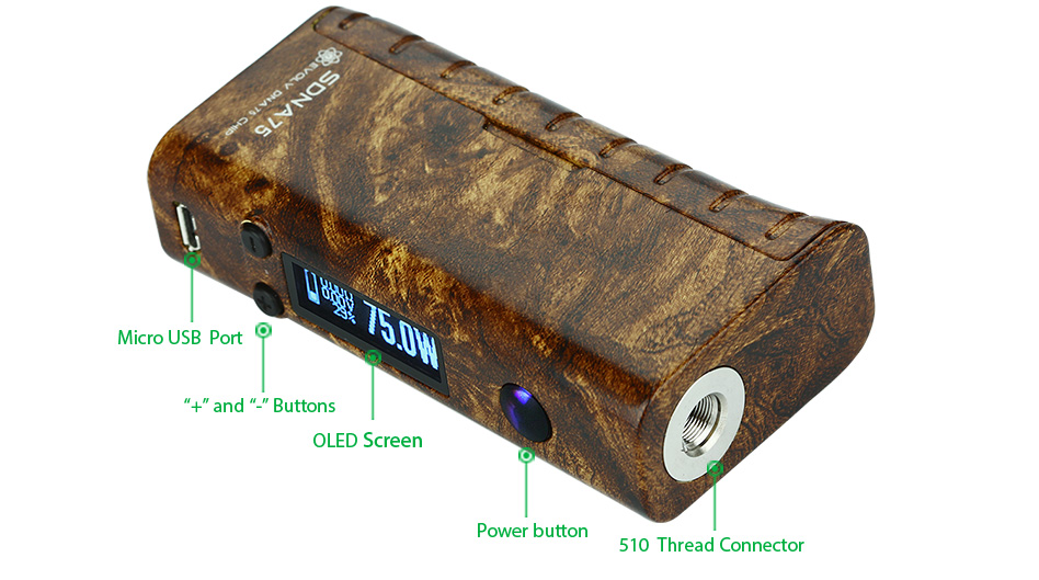 SMY SDNA 75W TC MOD W/O Battery