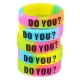 5pcs Decorative Silicone Ring with Protruding Letters