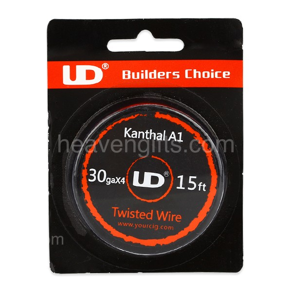 15ft UD DIY Kanthal A1 Twisted Wire(D=0.25mm 30GA x 4)