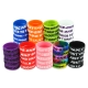 5pcs Decorative Silicone Ring with Concave Letters