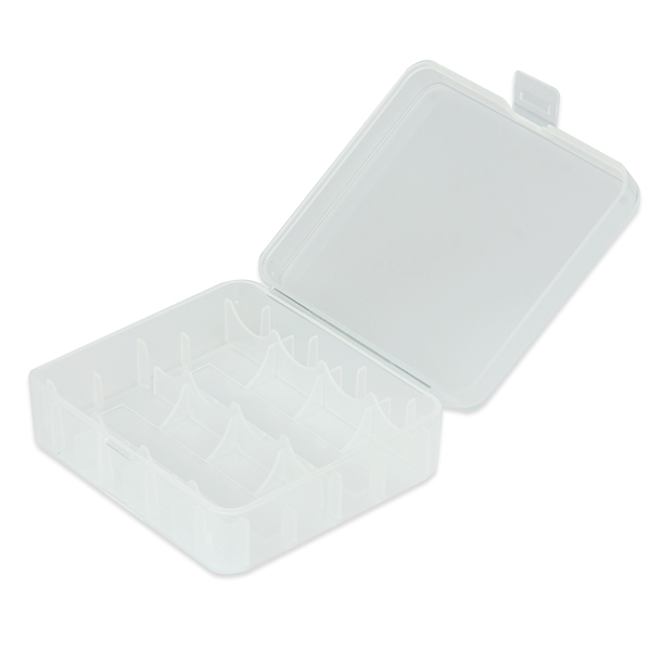 Plastic Storage Case for 18650/26650 Battery(Pure)