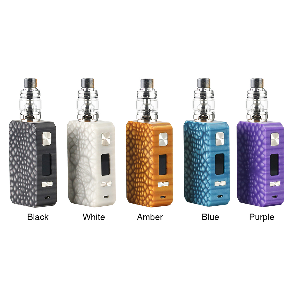 Eleaf Saurobox 220W TC Kit with ELLO Duro(White, 6.5ml)