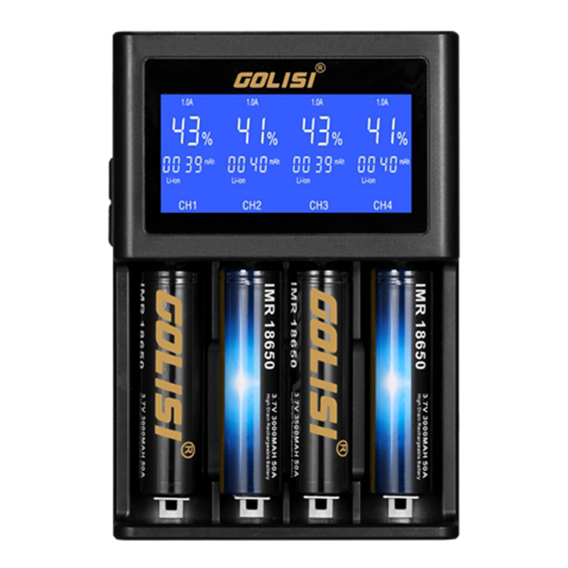 Golisi S4 2.0A Smart Charger with LCD Screen(EURO plug)