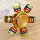 Luminous EDC Hand Spinner with Six Spins - Brass