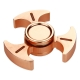 Luminous Triangle Hand Spinner with Ceramic Center Bearing - Brass & Copper