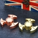 Luminous Triangle Hand Spinner dengan Hybrid Ceramic Bearing - Brass & Copper & Rainbow