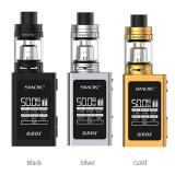 [Pre-order] SMOK QBOX TC Kit with TFV8 Baby - 1600mAh, Black & Gold & Silver