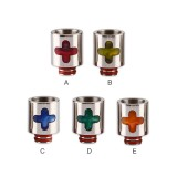 Stainless Steel Resin Cross 510 Drip Tip 0280