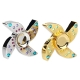 V2 Crown EDC Hand Spinner Fidget Toy Dengan Empat Spins