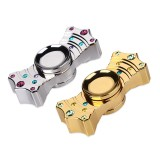 V2 Crown EDC Hand Spinner Fidget Toy With Two Spins