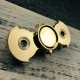V2 EDC Bat Hand Fidget Spinner Focus Toy - Brass & Steel