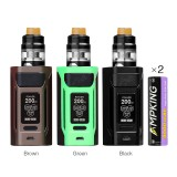 WISMEC Reuleaux RX2 20700 200W TC Kit with Dual Ampking 20700 Batteries 6000mAh