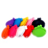 Mini Rubber Silicon Purse Carrying Case for e-cigarette Candy Color