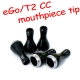 5pc mouthpiece tip for eGo/T2 2.4ml CC (Coil Changeable) clear cartomizer / clearomizer