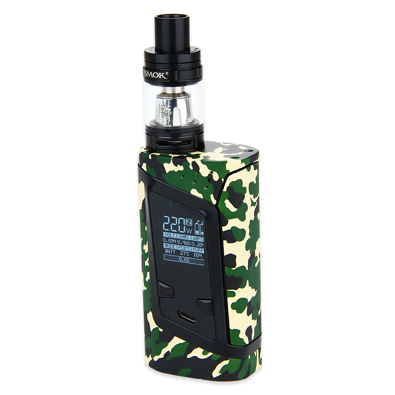 SMOK Alien 220W Kit with TFV8 Baby(Army Green, Standard Edition)