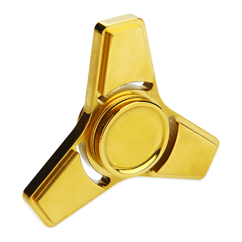 V2 EDC Triangle Hand Spinner with Hybrid Ceramic Bearing(Gold)