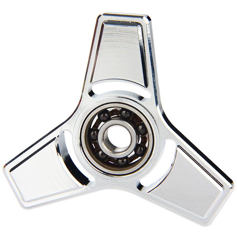 V2 EDC Triangle Hand Spinner with Hybrid Ceramic Bearing(Silver)
