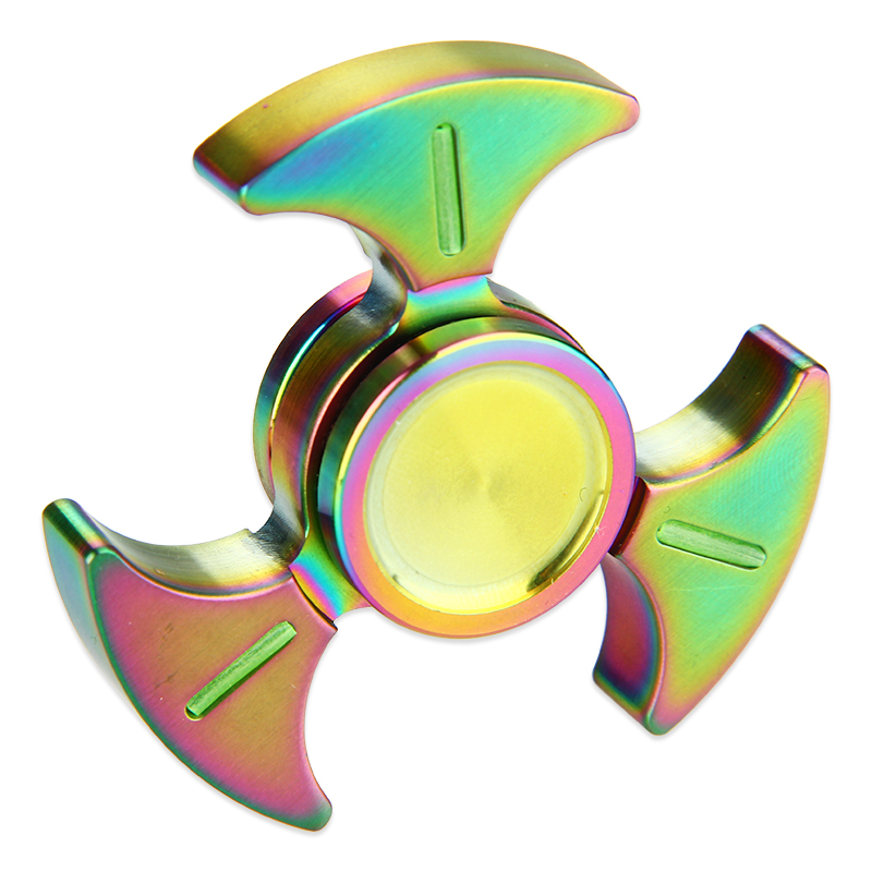 Luminous Triangle Hand Spinner with Hybrid Ceramic Bearing(Rainbow)