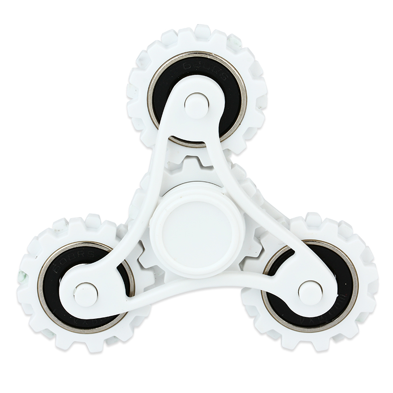 R188 Steel Bearing Hand Spinner with Four Gears(White)