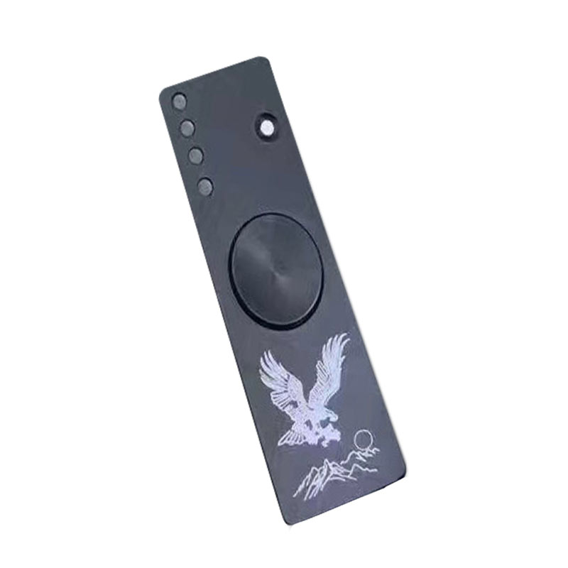 Image of 3 In 1 LED USB Charging Cigarette Lighter Finger Spinner(Black, Eagle)