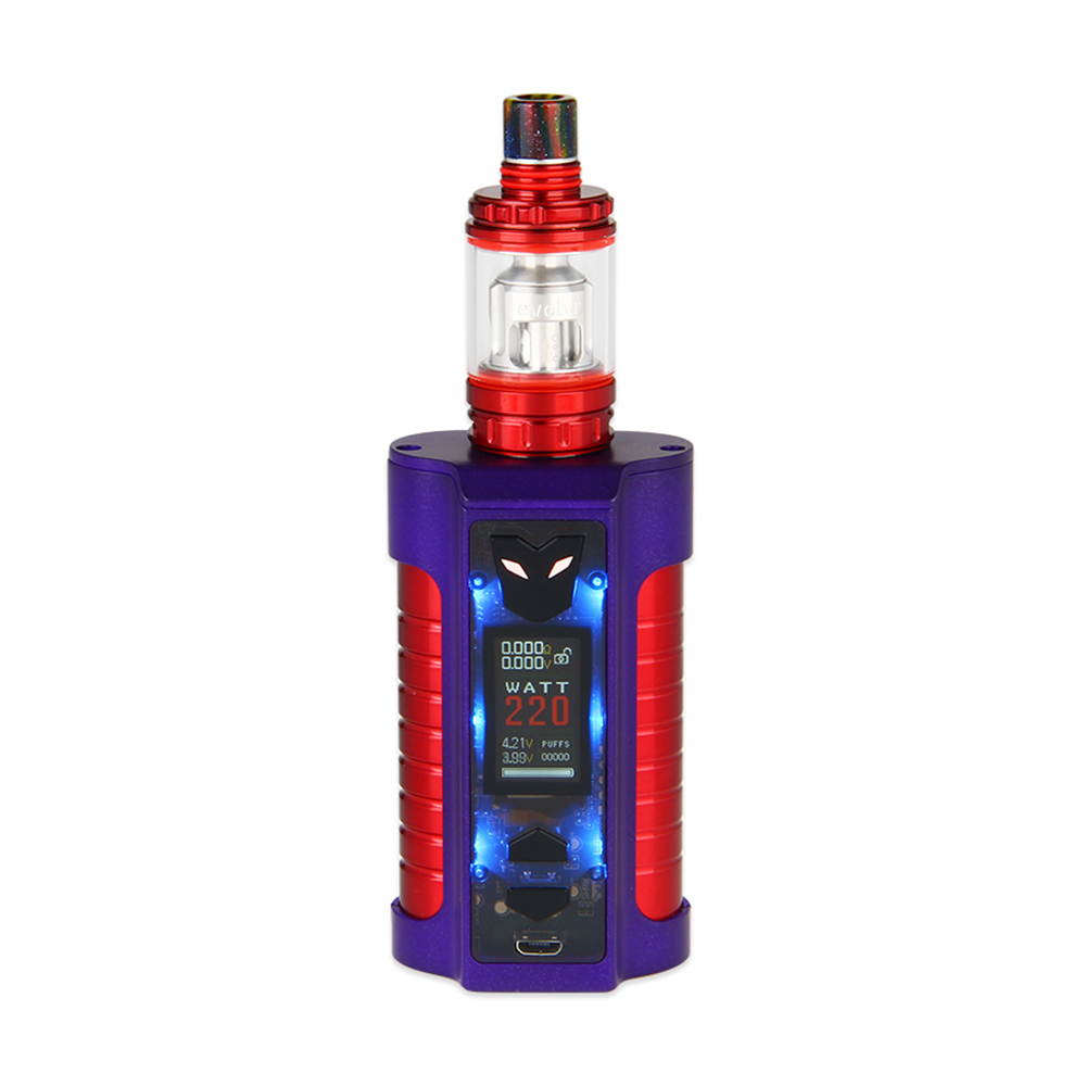 Sigelei MT 220W TC Kit with Revolvr Tank(Dark Purple/Red)