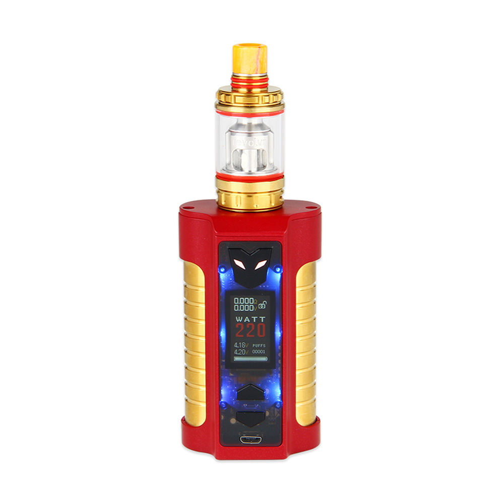Sigelei MT 220W TC Kit with Revolvr Tank(Dark Red/Gold)