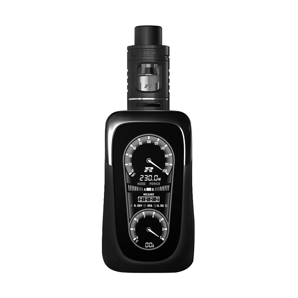 REV GTS V2 230W TC MOD Kit with Drift Tank(Black, 2ml With Warnings)