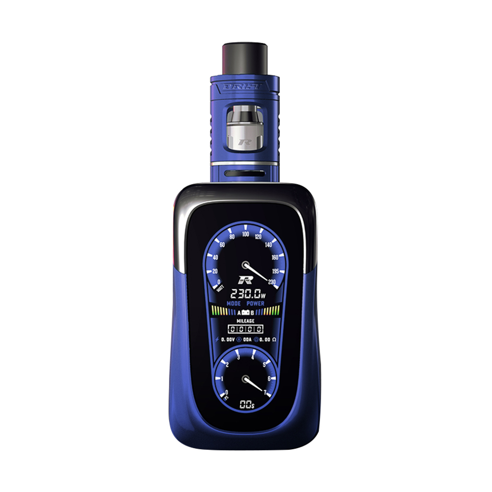 REV GTS V2 230W TC MOD Kit with Drift Tank(Blue, 2ml With Warnings)